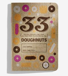 For sweets fanatics, these tasting journals are designed to record your experiences with different varieties of donuts. Each page features special space for personal notes, rating on a five-star scale and a doodle area, for an artistic rendering of each donut. Fill in a page for every new cruller, fritter or cake doughnut you try.