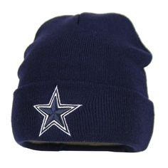 Amazon.com   Dallas Cowboys Basic Knit Hat (Navy)   Sports Fan Beanies    Sports   Outdoors 7093f5918