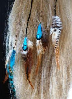 Rooster Feather clip-ins & sieraden – Blitzzzz – Roosterfeather Hairextensions: echte veren voor in het haar