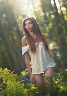 "Love the use of natural elements and backlighting - very innocent and ""natural"""