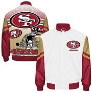 "San Francisco 49ers CityScape Sublimated Jacket - NFL Team Apparel (Small)  https://allstarsportsfan.com/product/san-francisco-49ers-cityscape-sublimated-jacket-nfl-team-apparel-small/  NFL Team Apparel San Francisco 49ers ""CityScape"" Sublimated d New with Tags and NFL Hologram NFL Official Licensed Product Celebrate your fandom with this Oakland Raiders City Scape sublimated jacket. It features San Francisco 49ers graphics on the front and back. With this jacket,"