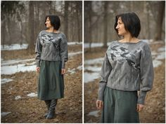 Расскажите, птицы... Валяем свитер из мериносового кардочеса - Ярмарка Мастеров - ручная работа, handmade