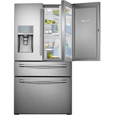Samsung - Showcase 29.5 Cu. Ft. 4-Door French Door Refrigerator with Thru-the-Door Ice and Water - Stainless-Steel - Larger Front $3199.99