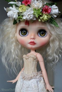 Layaway 4th part Spring custom ooak blythe doll by AlmondDoll