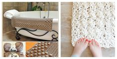 With these Crochet Bath Mat Free Patterns, you can make gorgeous and stylish crochet puff bath mats to stay chic and comfy through all four seasons.
