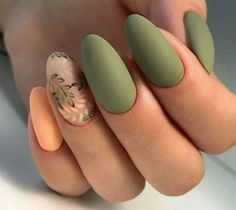 56 Perfect Almond Nail Art Designs for This Winter Almond nails for winter; Elegant Nail Designs, Elegant Nails, Classy Nails, Solid Color Nails, Nail Colors, Manicure Colors, Fall Manicure, Manicure Ideas, Autumn Nails