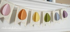 Easter Egg Banner & Tutorial.  Free Printable Template Pattern.  DIY holiday decoration.