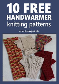 Free Knitting Patterns for hand warmers, wrist warmers, fingerless gloves and mitts. Lots of lovely DIY knitting projects from simple, easy, basic patterns to intermediate level ones and some interesting and challenging patterns for advanced knitters. Knitting For Charity, Knitting For Kids, Hand Knitting, Free Knitting Patterns For Women, Knitting Machine Patterns, Knit Patterns, Knitted Mittens Pattern, Knitted Gloves, Crochet Mittens