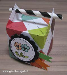 Kleine Goodies Geschenkverpackungen Box mit Strohhalm
