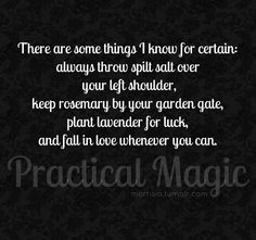 Gallery For > Practical Magic Quotes Love Spinning