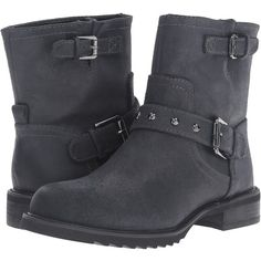 Nine West Willa (Black Leather) Women's Boots (87 CAD) ❤ liked on Polyvore featuring shoes, boots, ankle boots, black, black leather boots, black ankle boots, low heel ankle boots, faux-leather boots and black bootie