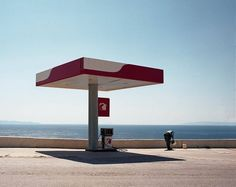 A gas station in #Greece capturedby #Lausanne photographer Julien Roux (@julien.roux) as part of his series 'The White Dry Season.' Photo found via @valtimmermans. // #newtopographics #minimal #minimal_perfection #mindtheminimal #learnminimalism #contemporaryphotography #artphotography #fineartphotography