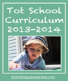 2013-2014 Tot School Curriculum