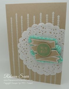 Stampin' Up! CAS Photopolymer stamps: Show & Tell 1 and Show & Tell 2 by Rebecca Scurr