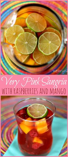 Very Pink Sangria - This easy wine cocktail is bursting with raspberry flavor!