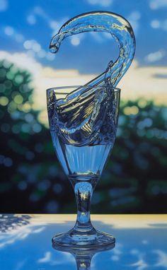 "The Paintings of Jason de Graaf ""Ultramarine"" acrylic on panel 23.5 x 38"""