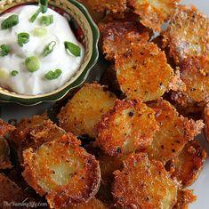 Easy Crispy Parmesan Garlic Roasted Baby Potatoes