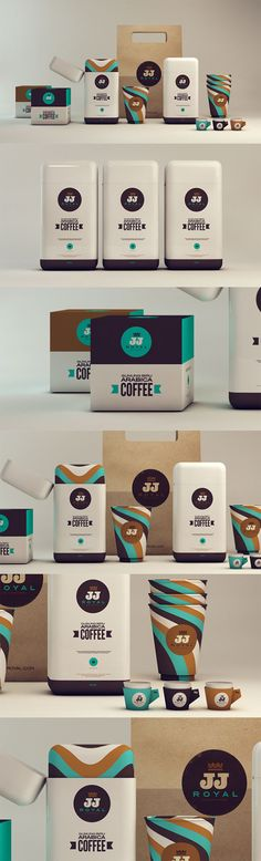 "PACKAGING - Arabica Coffee - via ""Isabela Rodrigues - JJ ROYAL- lovely choice of colour, clean and simple design."""
