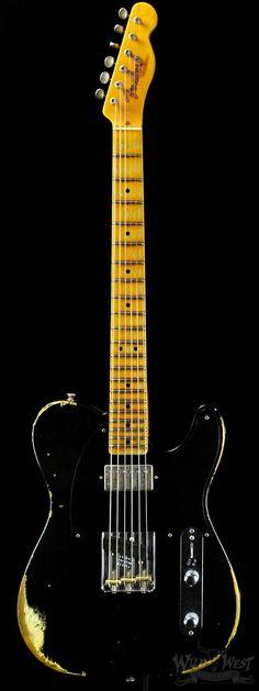 Fender 1952 Telecaster Heavy Relic HS Black - Wild West Guitars