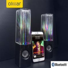Olixar Water Fountain Dual Bluetooth Speakers - Sound and vision in perfect…