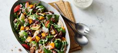 Warm Autumn Vegetable Salad - substitute non-compliant ingredients with coconut amines etc. Thanksgiving Recipes, Fall Recipes, Diet Recipes, Vegetarian Recipes, Cooking Recipes, Healthy Recipes, Clean Eating, Healthy Eating, Vegetable Salad