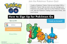 How to Sign Up for Pokémon Go or Login Pokémon