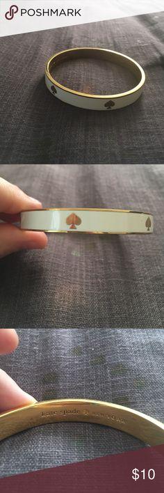 Kate Spade gold and white spade bracelet Kate Spade gold and white spade bracelet kate spade Jewelry Bracelets