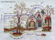 Brilliant Cross Stitch Embroidery Tips Ideas. Mesmerizing Cross Stitch Embroidery Tips Ideas. Cross Stitch House, Cross Stitch Charts, Cross Stitch Designs, Cross Stitch Patterns, Cross Stitching, Cross Stitch Embroidery, Cross Stitch Numbers, Cross Stitch Landscape, Cross Stitch Collection