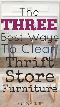 furniture Makeover Thrift Store - Ways to clean thrift store and second hand furniture Furniture Repair, Old Furniture, Refurbished Furniture, Repurposed Furniture, Cheap Furniture, Dining Furniture, Furniture Makeover, Furniture Design, Furniture Ideas