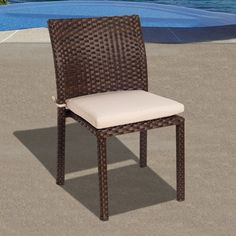 Outdoor Atlantic Liberty All Weather Wicker Cushioned Side Chair - Set of 4 - PLI LIBER SIDE4