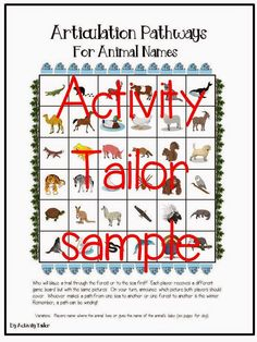 Speechie Freebies: Pathways for Animal Vocabulary. Pinned by SOS Inc. Resources. Follow all our boards at pinterest.com/sostherapy/ for therapy resources.