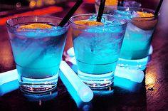 neon, cocktails, futuristic party