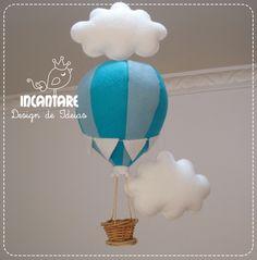 Pingente Balão com Nuvens | Incantare Design de Ideias | Elo7