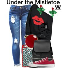 Under the Mistletoe by wearwhatyouwatch on Polyvore featuring Converse, COSTUME NATIONAL, Aqua, claire's, Casetify, music and wearwhatyouwatch