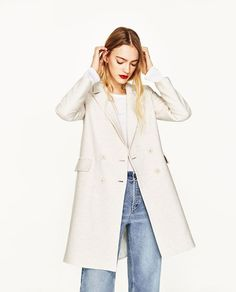Image 2 of DOUBLE BREASTED COAT from Zara