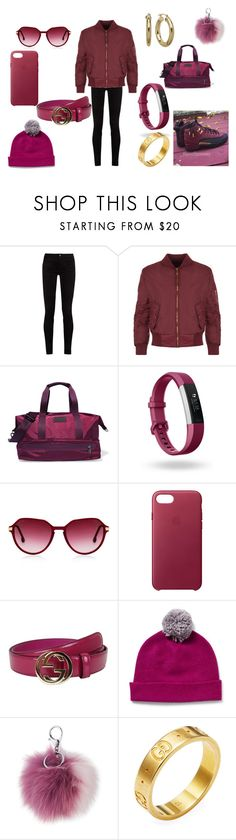 """burgundy and gold"" by hcps-watsonsj ❤ liked on Polyvore featuring Gucci, WearAll, adidas, Fitbit, Steven Alan, Apple and Adrienne Landau"