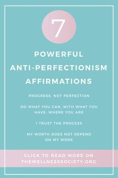 3 Ways to Overcome Perfectionism: Affirmations, Cognitive Restructuring and Taking Action Want to reduce perfectionism? Read our 7 powerful anti-perfectionism affirmations at , your online resource for all things mental wellbeing Self Compassion, Compassion Fatigue, Change Your Life, Self Care Routine, Self Development, Personal Development, Mental Health Awareness, Self Esteem, Positive Affirmations