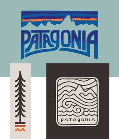 Patagonia is an environmentally conscious and innovative outdoor apparel and lifestyle brand based out of Ventura California. Outdoor Companies, Outdoor Brands, Outdoor Logos, Outdoor Apparel, Patagonia Brand, Cool Posters, Ventura California, Graphic Design Inspiration, Sticker Design