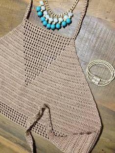 Resultado de imagen para cropped de croche frente unica We are want to say thanks if you like to share this Bikinis Crochet, Crochet Halter Tops, Crochet Bikini Top, Top Crop Tejido En Crochet, Crochet Blouse, Knit Crochet, Unique Crochet, Beautiful Crochet, Crochet Designs