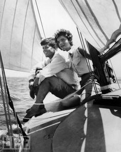 Jackie and John F. Kennedy sailing