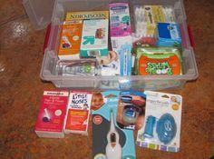 """Es ist auch eine gute Idee, ein ganzes """"Baby-Erste-Hilfe-Set"""" zusammenzustellen, bevor das Baby da ist."""