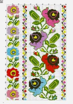 Gallery.ru / Фото #2 - 36 - kento Cross Stitch Art, Cross Stitch Borders, Cross Stitch Flowers, Cross Stitch Designs, Cross Stitching, Cross Stitch Patterns, Folk Embroidery, Embroidery Patterns Free, Loom Patterns
