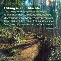 Hiking is a bit like life, enjoy the beauty along the way.- Hiking is a bit like life, enjoy the beauty along the way. Life Quotes Love, Great Quotes, Inspirational Quotes, Quotes Quotes, Path Quotes, Awesome Quotes, Change Quotes, Attitude Quotes, Motivational Quotes