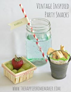 Vintage inspired party snacks using the David Tutera Casual Elegance Collection of DIY bridal and wedding decor, crafts and accessories #DTCasualElegance