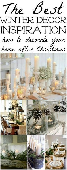 The best winter decor inspiration! How to decorate after you take down all of your Christmas decor! budget friendly home decor #homedecor #decor #diy