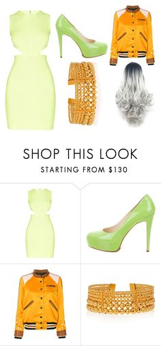 """Granny Smith"" by ariartist-1513 on Polyvore featuring Hervé Léger, Brian Atwood, Coach and Paula Mendoza"