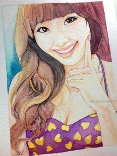 Hyorin -- Sistar fan art painting by *antuyetlai on deviantART