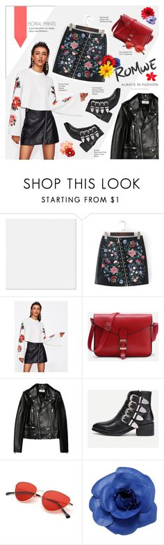 """""""Always in fashion #Romwe"""" by juhh ❤ liked on Polyvore featuring Yves Saint Laurent, Chanel, romwe, floralprint, alwaysinfashion and Juliajulian"""