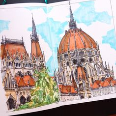 My in Budapest #art #drawing #sketch #sketchbook #leuchtturm1917 #marker #copic…