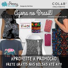Os produtos da minha marca de estampas POMMY NEW YORK agora estão à venda no Brasil, no site Colab55: www.colab55.com.br/@pommy  Aproveite a promoção de Frete Grátis nas bolsas até amanhã (4/11)!